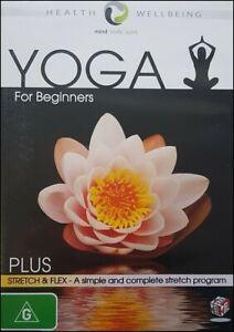YOGA for BEGINNERS + STRETCH & FLEX Health Wellbeing Mind Body Spirit DVD NEW R4