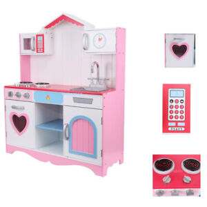 Rosa Kinder Küche Kochen Rollenspiel Spielzeug Herd Spielhaus Spielset 100cm