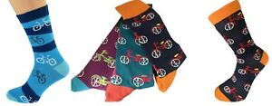 Cycling Socks, Novelty Bikes Cycles Ankle Socks Unisex & also Lapel Pin Badges