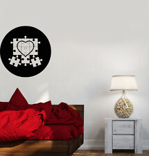 Wall Decal Puzzle Heart Circle Image Love Soul Feelings Vinyl Sticker (ed650)