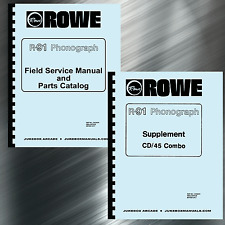 Rowe R-91 Phonograph Service & Parts Manual with Supplement & Troubleshooting