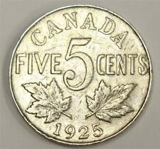 1925 Canada 5 cents VG10