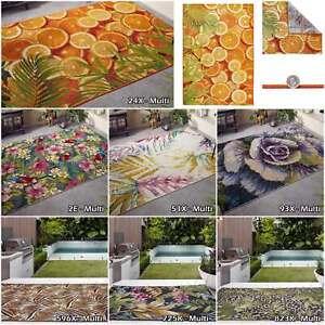 Modern Water Resistant Oriental Weavers Tropicana Large Indoor Outdoor Area Rugs