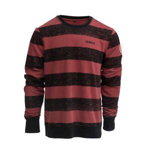Yamaha Faster Son's 'Angus' Men's Lightweight Black & Red Stripe Sweatshirt