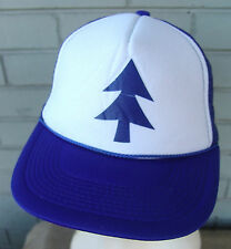 Blue Pine Tree Cartoon Hat Cap Trucker Cosplay Anime Mesh