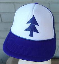 Blue Pine Tree Cartoon Hat Cap Trucker Cosplay Anime Mesh Baseball