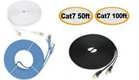 Cat7 RJ45 Ethernet Flat Patch Network LAN Shielded Internet Cable 50ft 100ft US