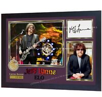 Jeff Lynne ELO Music signed autographed photo print Framed