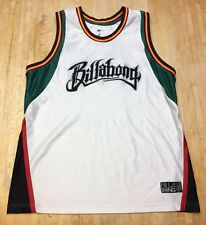 Mens Billabong Rasta Colors Hawaii STITCHED Basketball Jersey Medium