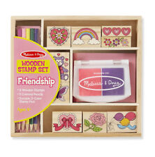 Melissa & Doug Wooden Friendship Stamp Set #1632 New Sealed