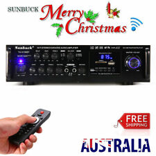 New 2000W 110V Pro Bluetooth HiFi Power Amplifier Stereo Surround Amp Karaoke FM