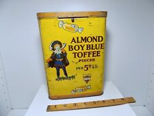 More details for george horner blue boy almond 4lb toffee shop display tin c1920s