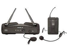 Proel Wm202h UHF System Microphone Lavalier Headset Wireless for Live Karaoke