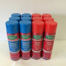 BRAKE AND CLUTCH CLEANER 500ML X 6 & CHAIN LUBE 500ML X 6