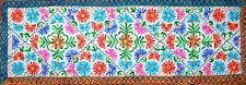 Embroidered Floral Tapestry Wall Hanging Table Bed Runner Woollen Indian RN013