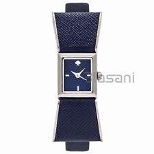 Kate Spade Original KSW1029 Women's Kenmare Bow Shaped Navy Leather Watch 16mm