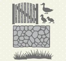 Metal Cutting Dies Grass Fence Ducks Garden Embossing Die Stencil Scrapbooking