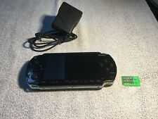 Sony PlayStation Portable PSP Black Console /w Official Charger & 512MB Card