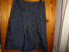 Navy blue and black floral jacquard skirt, FLORENCE & FRED, 12, NEW w TAG, BNWT