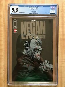 THE WALKING DEAD NEGAN LIVES! 1 CGC 9.8 WHITE PAGES SILVER FOIL VARIANT