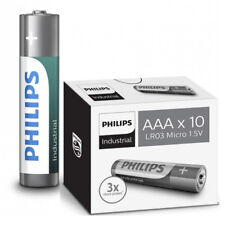 10X PHILIPS INDUSTRIAL AAA BATTERIES ALKALINE 1.5V LR6 MN2400 PROCELL BATTERY LR