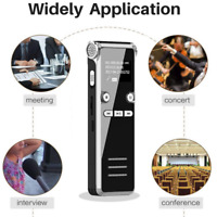 Voice Activated Recorder Digital Rechargeable Mini MP3 Microphone Sound 8GB