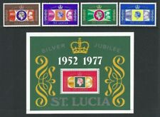 St Lucia 1977, Silver Jubilee sg443/6 & MS447 MNH