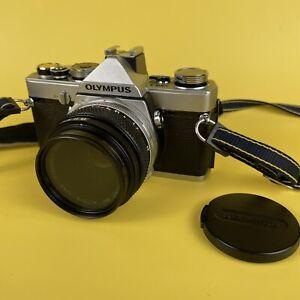 Classic Tested Olympus OM1 35mm SLR Camera + 50mm 1.8 Zuikp Lens + Strap