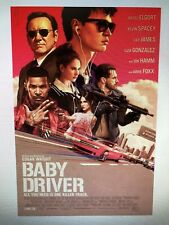 BABY DRIVER ONE SHEET 24X36 POSTER MOVIES JAMIE FOXX KEVIN SPACEY FILM PINK COOL