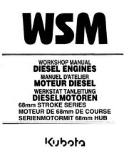 KUBOTA 68MM STROKE SERIES DIESEL ENGINE WORKSHOP MANUAL 2000 EDITION REPRINT
