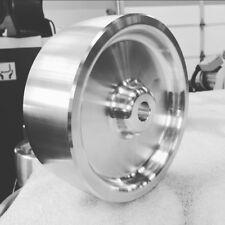 """Complete Belt Knife Grinder Wheel Set,6"""" Drive 5/8, 4"""" Tracking, 2"""" Idler Wheels"""