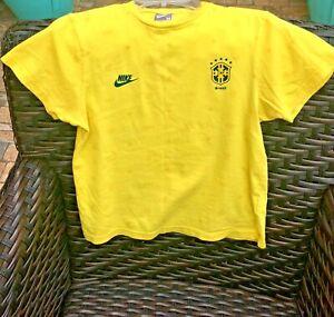 Nike Brazil Brasil CBF Soccer Futbol Medium T-Shirt-Yellow