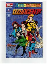 Jack Kirby's Teenagents #1 August 1993 Topps Comic Book Autograph Signed w/ COA