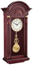 Bulova New Yorker Hardwood Mahogany Finish Chime Pendulum Wall Clock C1516
