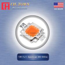 1PCS 10W Full Spectrum 380-840nm High Power LED SMD Chip Light Beads plant grow