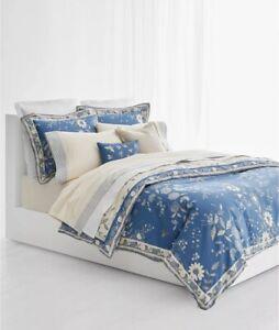 Ralph Lauren Josephina FULL / QUEEN Comforter & 2 Shams Reversible Blue $ 385