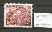 DDR postfrisch   380XII   tiefst geprüft