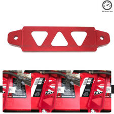 125mm CNC Aluminum Car Battery Tie Down Mount Bracket Brace Bar Universal Red