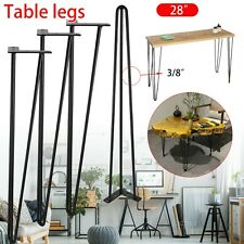4x Hairpin Table Legs Furniture Set Hair Pin Desk Bench Steel Black Coffee Chair