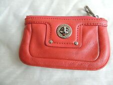 Vintage Marc By Marc Jacobs Red Mini Leather Coin Card Wallet Key Ring