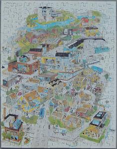 "Vintage ""BAHCO"" promotional wooden jigsaw puzzle. Artist: K. Aarnivaara-1979"