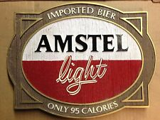 "Amstel Light Beer Signs - ""Imported Bier"" - Man Cave Bar Party - NOS"
