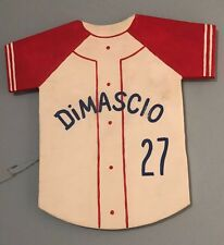 Personalized Baseball Jersey Wood Sign - Boy's Room Decor