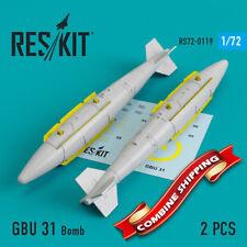 ResKit 72-0119 GBU 31 Bomb (A-10, B-1, B-2, B-52, F-16, F-15, F-35) (2 pcs) 1/72