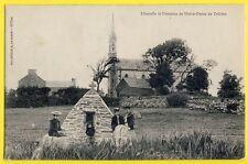 cpa Rare PLOUARZEL (Finistère) CHAPELLE et FONTAINE de NOTRE DAME de TREZIEN