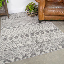 Traditional Gray Tribal Rug Small Large Area Carpets Long Aztec Hallway Runners