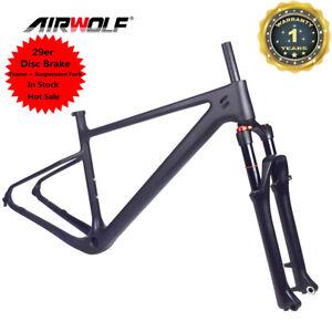29ER Carbon Frame MTB Mountain Bike Frames + Suspension Fork Bicycle Frameset
