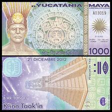 Maya Yucatania Yucatan 1000 Mil Soles De Oro, Polymer, 2012(2013),UNC>Fantacy