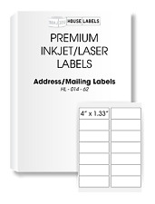 2000 Sheets 28000 Labels 4 x 1 1/3 Fast Peel White Address Mailing Labels 14 UP