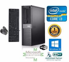 Dell Desktop Computer Intel Core i3 Windows 10 pro 64 120GB SSD 3.1ghz 4gb Ram